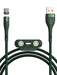 cheap -BASEUS Micro USB Lightning USB C Cable Braided 1 to 3 High Speed 3.5 A 1.0m(3Ft) Nylon TPE Aluminium Alloy For Macbook iPad Samsung Phone Accessory