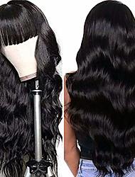 cheap -pujia women black fiber hair daily wear brazilian 26 inch big wavy wigs with bangs full wigs body wave wigs