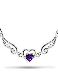 cheap -Women's Synthetic Amethyst Pendant Necklace Classic Angel Wings Fashion Copper Silver 45+5 cm Necklace Jewelry 1pc For Anniversary Gift Birthday Party Festival