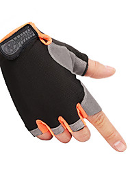 cheap -cycling gloves men's/women's mountain bike gloves half finger biking gloves anti slip shock absorbing gel pad breathable cycle gloves (black, large)