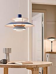cheap -LED Pendant Light Nordic White Gray Green Pink Blue 30cm 40cm 50cm Single Design Aluminium Alloy Modern Style Mini Painted Finishes Modern Style 110-120V 220-240V