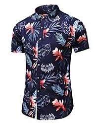 cheap -plus size 5xl 6xl 7xl hawaiian shirt men summer fashion casual floral short sleeve shirt male brand clothes 210522
