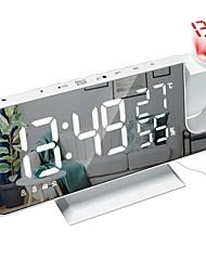 cheap -2021 LED Digital Alarm Clock Watch Table Electronic Desktop Clocks USB Wake Up FM Radio Time Projector Snooze