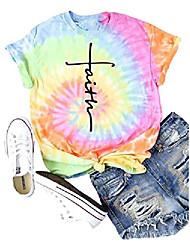 cheap -kaloxi women tie dye shirt cross faith shirt short sleeve christian tops (xx-large, multicolor)