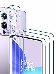 cheap -Phone Screen Protector For One Plus OnePlus 9 OnePlus 8 Pro OnePlus 8 OnePlus 7T Oneplus 7 Tempered Glass 5 pcs High Definition (HD) Scratch Proof Front Screen Protector Phone Accessory