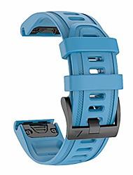 cheap -Smartwatch band 20mm watch straps quick release buckle for garmin fenix 5s /fenix 5s plus /fenix 6s /fenix 6s pro smartwatch silicone watch straps bracelet watch bands replacement bracelets (blue)