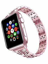 cheap -Smart watch Band armband for apple watch 38mm 40mm compatible with iwatch armband series se / 6/5/4/3/2/1 stainless steel replacement sport band adjustable glitter armband belt rose, 38mm / 40mm