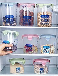 cheap -Food Storage Box Plastic Kitchen Food Cereal Grain Bean Rice Storage Box Container Bottle Case Kitchen Accessories Organizer 600ML 800ML 1000ML 1500ML