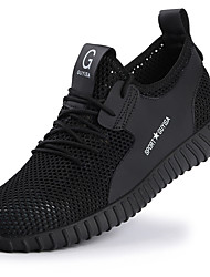 cheap -Steel Toe Safety Shoes Flyknit Breathable Non-slipping Wear Proof Booties / Ankle Boots Black Summer