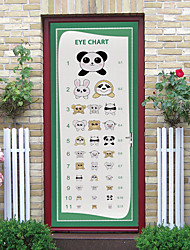 cheap -Children's Vision Test Table Wall Stickers Self-adhesive Creative Door Stickers Living Room Diy Decorative Home Waterproof Stickers
