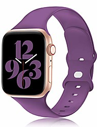 cheap -compatible with apple watch band 38mm 40mm 42mm 44mm women and men,soft silicone replacement strap band for iwatch series 6 5 4 3 2 1 se