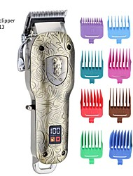 cheap -Embossed Pattern Oil Head Electric Hair Clippers Hair Salon High-power Electric Clippers LCD Hair Clipper Clippers