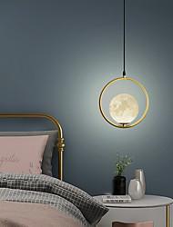 cheap -LED Pendant Light Moon Design Bedside Light Modern Nordic 25 cm Globe Desgin Pendant Light Metal Electroplated 110-120V 220-240V
