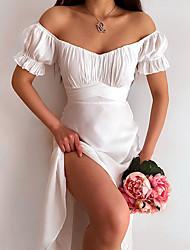 cheap -Women's A Line Dress Knee Length Dress Blue White Red Sleeveless Pattern Summer Casual 2021 S M L XL XXL XXXL / Cotton / Cotton