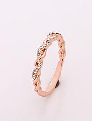 cheap -twist diamond ring 18k gold 925 silver rose gold simple diamond ring jewelry