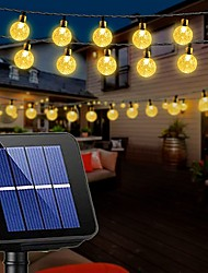 cheap -Solar String Lights Wedding Decoration 10M Solar Patio Lights 50 LEDs with 8 Modes Waterproof Crystal Ball String Lights for Patio Lawn Party Wedding Garden Patio Decorations