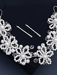 cheap -Retro Sweet Imitation Pearl / Rhinestone / Alloy Headbands / Headpiece / Hair Accessory with Faux Pearl / Crystal / Rhinestone / Split Joint 1 PC Wedding / Party / Evening Headpiece