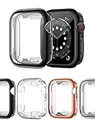 cheap -Smart watch Case 4 pack screen protector compatible with apple watch 6/series se/series 5/series 4 40mm, ultra thin hd screen case full coverage protective cover compatible with iwatch series 6/se/5/4