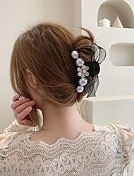 cheap -korean version of spring pearl bow hair accessories hair grab clip hair clip female back head grab clip big hair grab clip shark clip