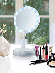 cheap -14 LED Light Makeup Mirror Double-sided Portable Tabletop Lamp Professional 10X Vanity Health Beauty Tool Cosmetic Mirror