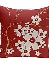 cheap -Red Double Side Cushion Cover 1PC Soft Decorative Square  Pillowcase for Sofa bedroom Car Chair Superior Quality Outdoor Cushion Patio Throw Pillow Covers for Garden Farmhouse Bench Couch