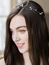 cheap -Wedding Bridal Copper wire Headbands / Headdress / Headpiece with Imitation Pearl / Metal 1 PC Wedding / Party / Evening Headpiece