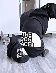 cheap -Dog Cat Pets Hoodie Dog Coat Dog Shirt / Dog T-shirt Word / Phrase Cute Sweet Dailywear Casual / Daily Winter Dog Clothes Puppy Clothes Dog