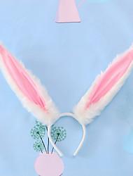 cheap -Kids Baby Girls' a Generation Of Hair Hand-Made  Headdress Lolita Hair Accessories Lo Mother Kc Animal Ear Accessories Rabbit Ears Headband