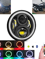 cheap -OTOLAMPARA 100W  Motorcycle RGB LED Headlight H4 for Yamaha Road Star 1600/ 1700/ Silverado Multi-functional High Low Beam Headlamp with Angel Eye DRL 1pcs