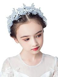 economico -accessori per bambini neonate sen-line copricapo di fiori fascia per capelli rete per farfalle principessa ghirlanda da sposa vestito da ragazza di fiori accessori per capelli