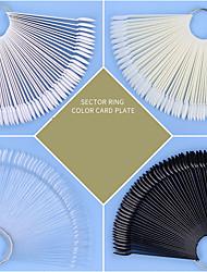 cheap -4 Pcs/set Round Head Hoop Fan-shaped Color Card 50 Pieces Of fake Nails Short Ellipse Practice Nail Piece Nail Art Display Color Palette Nail Tool