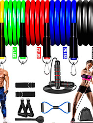 cheap -Resistance Band Set Suspension Trainer Basic Kit 13 pcs 5 Stackable Exercise Bands Door Anchor Legs Ankle Straps Sports TPE Home Workout Gym Workout Exercise & Fitness Adjustable Non Toxic Stretchy