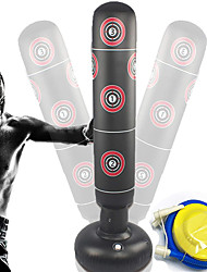 cheap -Fitness Punching Bag for Kids Punching Heavy Bag Inflatable Punching Tower Bag Freestanding Children Fitness Play Adults De-Stress Boxing Target Bag