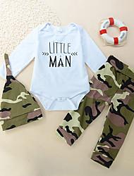 cheap -Baby Girls' Active Print Print Long Sleeve Regular Regular Clothing Set White