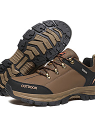 cheap -Men's Hiking Shoes Anti-Slip Wearable Hiking Outdoor Exercise Team Sports Winter Fall & Winter Black Grey Brown