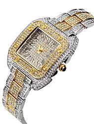 cheap -Missfox quartz women's watch alloy square jewelry buckle full diamond watch female