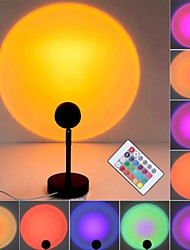 cheap -Sunset Projector Night Lamp RGB LED Remote Control 16 Color Light Rainbow Atmosphere Projection Lamp USB Power for Home Bedroom Wall Decoration
