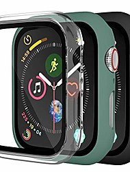 cheap -Smart watch Case [3 pack] compatible with apple watch case 40mm, full coverage bumper protective case scratch resistant cover with screen protector for iwatch se series 6/5/4