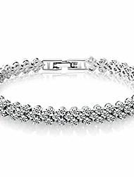 cheap -edary silver tennis bracelet crystal zircon bracelet sparkle rhinestone zircon adjustable bridesmaids hand chain diamond hand accessories wedding gift jewelry for women girls