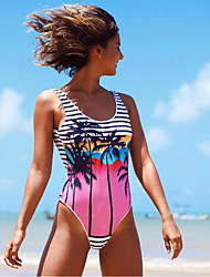 cheap -2021 amazon europe and america new coconut one-piece bikini for swimwear one-piece printed swimsuit bikini