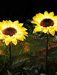 cheap -Outdoor Solar Lights Garden Lawn Lights Artificial Outdoor Waterproof Sets Plants Sunflower Lawn Light Stake Lamp for Courtyard Patio Garden Outdoor Landscape Path Decoration Lighting IP65