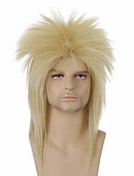 cheap -halloweencostumes Men's 70s 80s Squid Wigs  Men's 80s And 70s Themed Party Fancy Squid Wigs Suitable For Rock Start Shows And Joe Dirt Costume Wigs