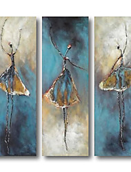 cheap -Oil Painting Handmade Hand Painted Wall Art Abstract Figure Dancer Blue Home Decoration Dcor Stretched Frame Ready to Hang
