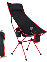 cheap -Camping Chair High Back with Headrest Portable Ultra Light (UL) Foldable Breathable Mesh Oxford 7075 Aluminium Alloy for 1 person Camping / Hiking Fishing Beach BBQ Autumn / Fall Winter Red Orange