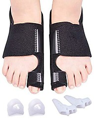 cheap -bunion corrector & bunion toe separators, orthopedic bunion splint for big toe pain relief and toe straightening, hallux valgus brance for day/night support