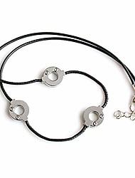 cheap -anime akatsuki itachi uchiha necklace titanium steel cosplay 3 loops konoha necklace