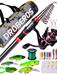 cheap -Telescopic Fishing Rod and Reel Combo Fishing Pole Set and  Fishing Tackle Box with lures and lines 180/210/240/270/300/360 cm Carbon Fiber Portable Lightweight Freshwater and Saltwater Sea Fishing