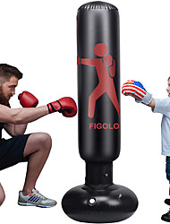 cheap -Inflatable Punching Bag for Kids, 63Inch Punching Bag Freestanding Boxing Bag Fitness Punching Bag Column Tumbler Sandbag, for Practicing Karate, Taekwondo, Decompression Kick Training, with Air Pump