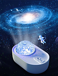 cheap -LED Projection Lamp Spacecraft Starry Sky Galaxy Remote Control Wireless Connection Night Light For Kid Bedroom Home Party Decor 1pcs