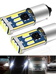cheap -10pcs Car Led BA9S CANBUS T4W H6W LED 4014 15LED Side Wedge Light Interior Signal Lamp ars Roof lights Mirror Plaste lights 12V